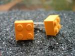 Lego Yellow 2x2 Brick Cufflinks