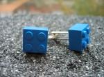 Lego Blue Brick Cufflinks