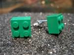 Lego Green Brick Cufflinks